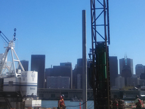 Vortex-driving-piles-at-pier-27-SF