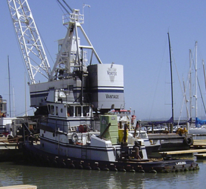 Image of a Vortex tug, linking to the Vortex Marine Construction boats page