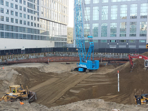 Vortex heavy civil construction services image of a bracing job