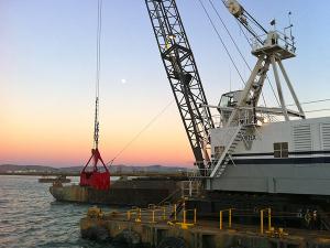 Vortex dredging services image of a dredging job