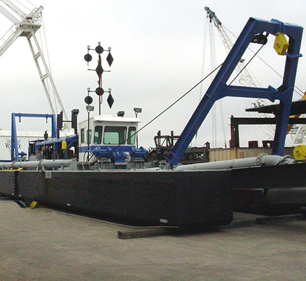 Hydraulic cutter section dredge for sale by Vortex Marine Construction, Inc