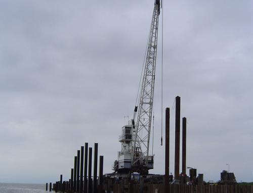 Ballena Isle Breakwater Construction