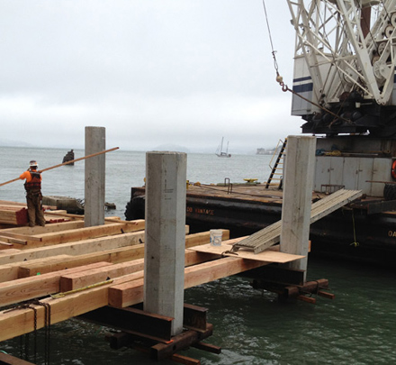 Vortex Bay Trail link job at Pier 43