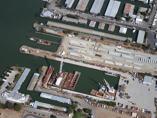 aerial shot of Vortex Marine Construction, Antioch